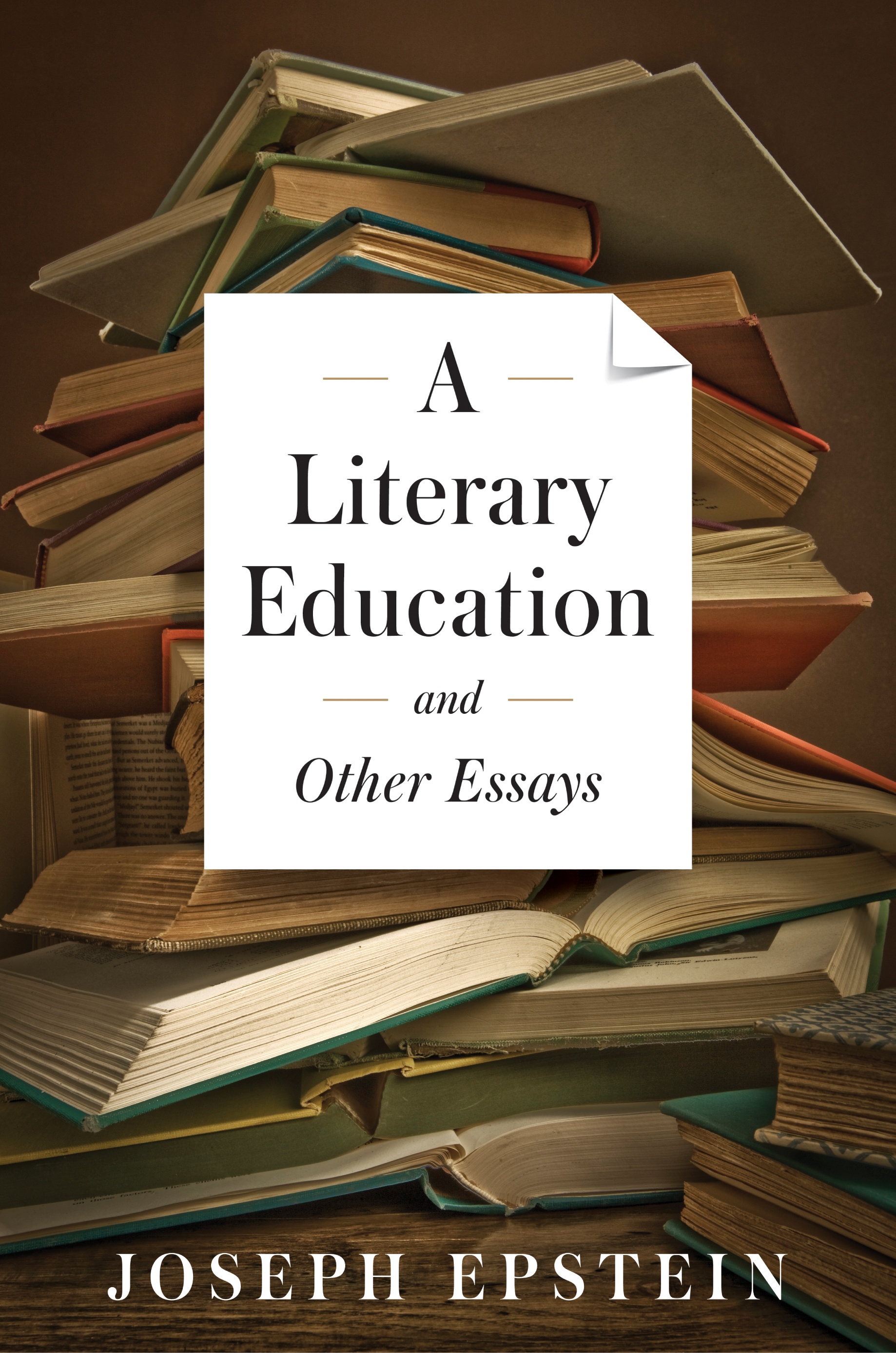 a literary education and other essays axios press front cover jpg
